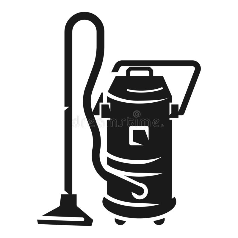 Service vacuum cleaner icon, simple style royalty free illustration