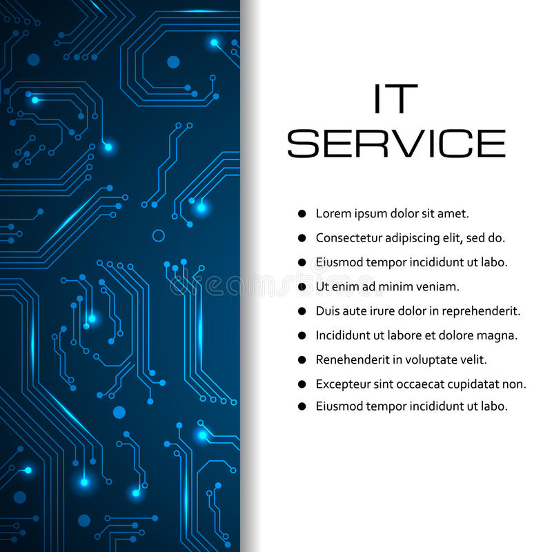 IT Service Vector Banner Can Be Used For Web Design Brochure - Price list brochure template