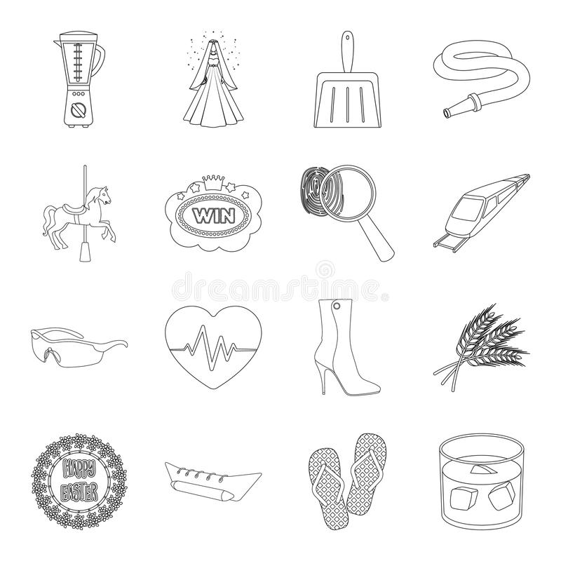 Service, wedding, transport and other web icon in outline style.police, travel, ecology icons in set collection. stock illustration