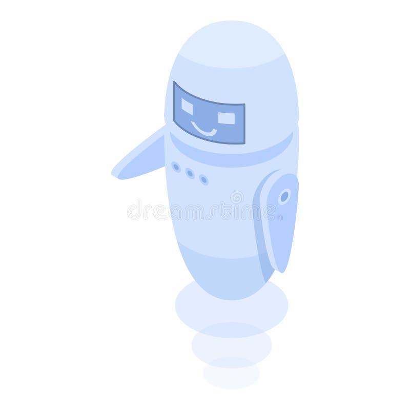 Servicechatbotsymbol, isometrisk stil royaltyfri illustrationer