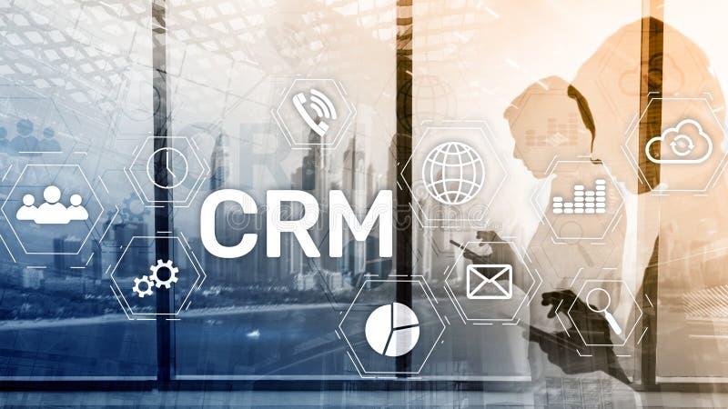 Servicekonzept Firmenkunde CRM-betriebswirtschaftlicher Auswertung Verh?ltnis-Management lizenzfreie abbildung