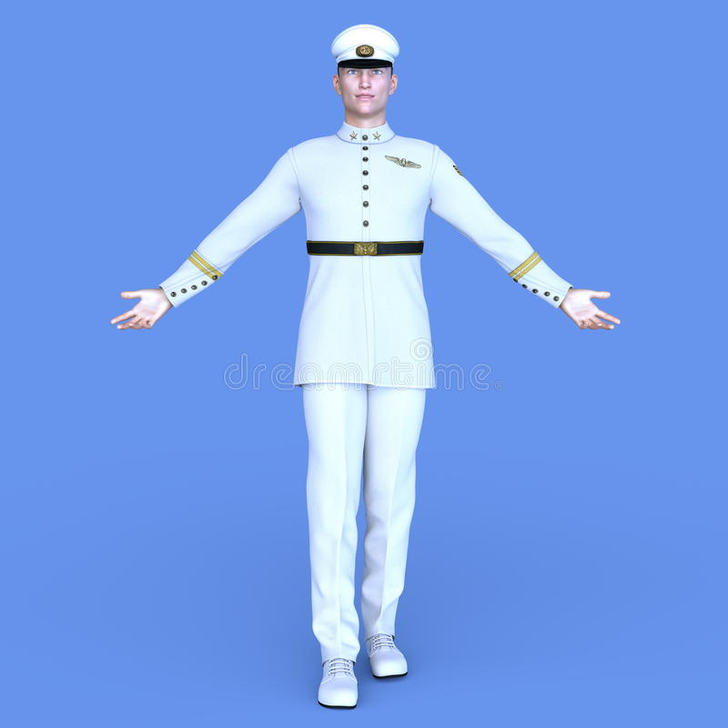 Serviceman stock image