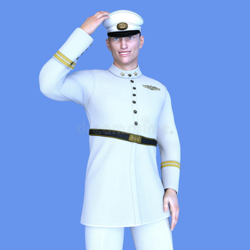 Serviceman stock photo