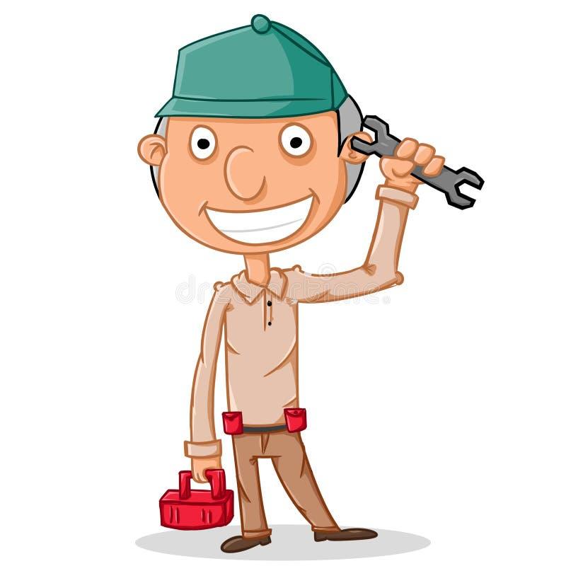 Download Serviceman stock illustration. Illustration of draw, mechanic - 33328971