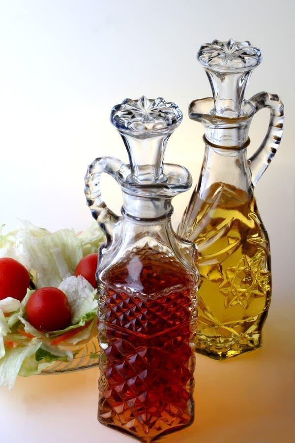 Services à condiments de pétrole et au vinaigre images stock
