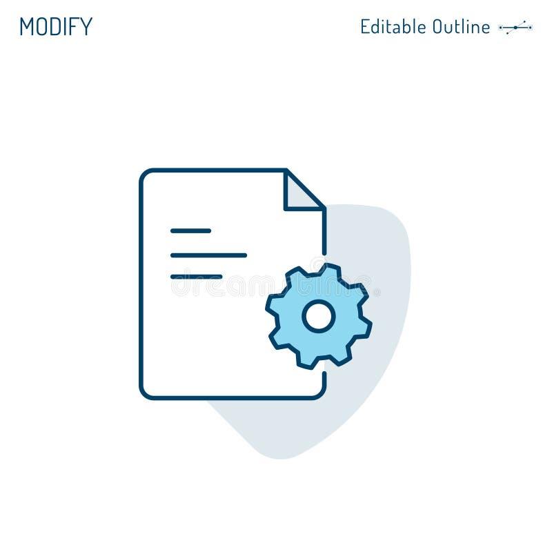 Services aux entreprises guide, documentation d'audit, document de dépannage de FAQ, aide technique, icône de vitesse, configur illustration libre de droits