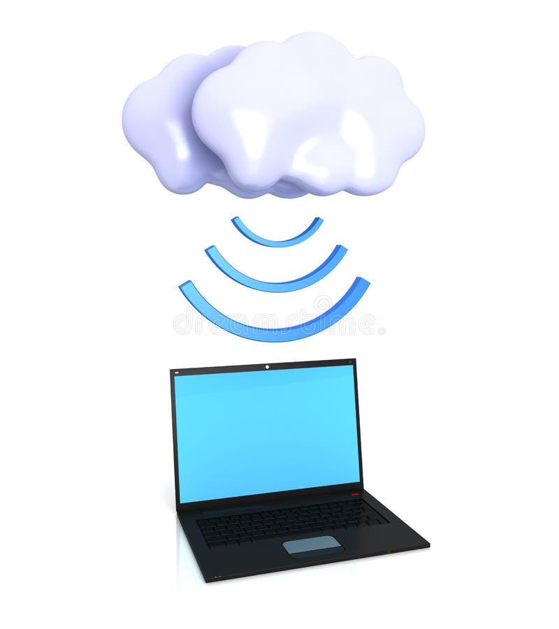Services de calcul de nuage illustration libre de droits