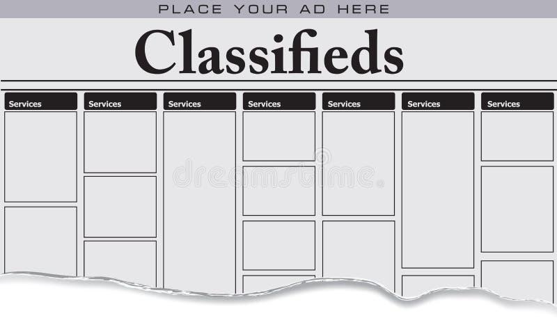 Services de classifieds de journal illustration libre de droits