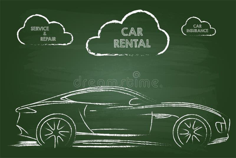 Services de location de voiture illustration de vecteur