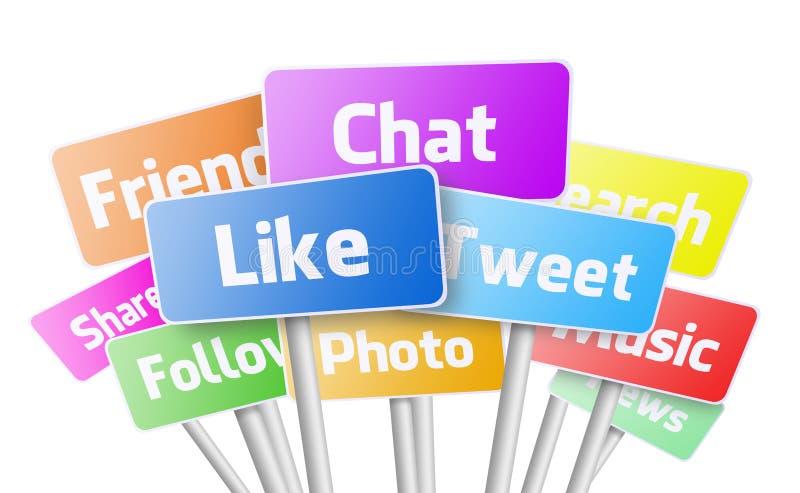 Services de médias sociaux photos libres de droits