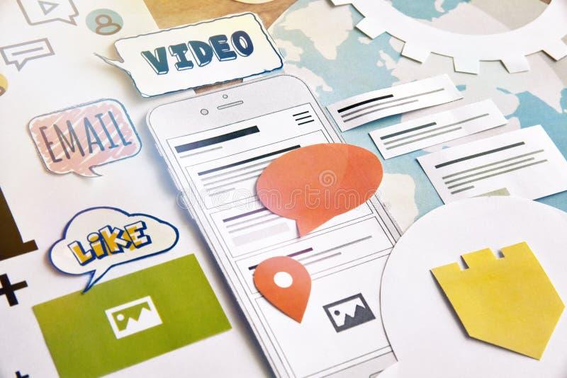 Services de Smartphone images libres de droits