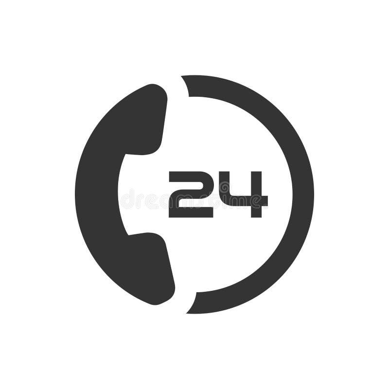24 services de soin de client d'heure illustration libre de droits