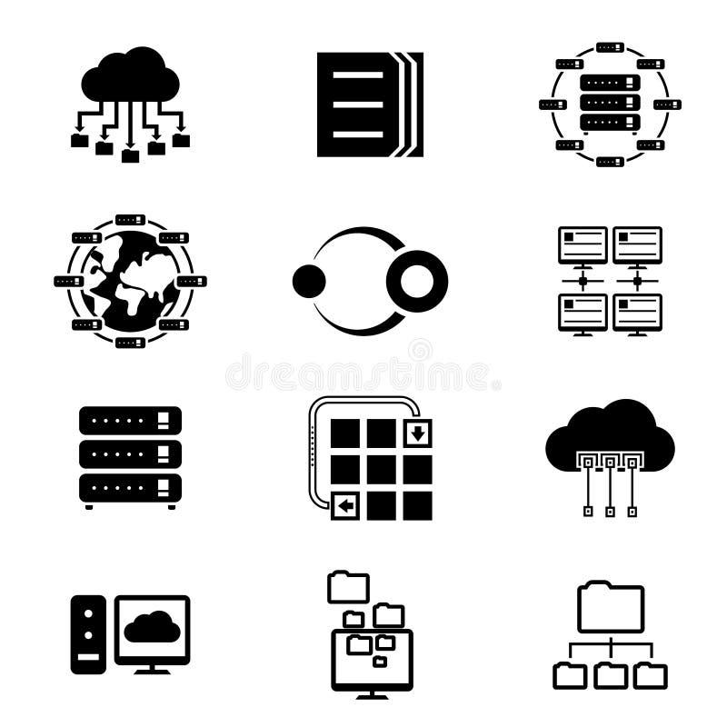 Services de stockage de données et de nuage illustration libre de droits