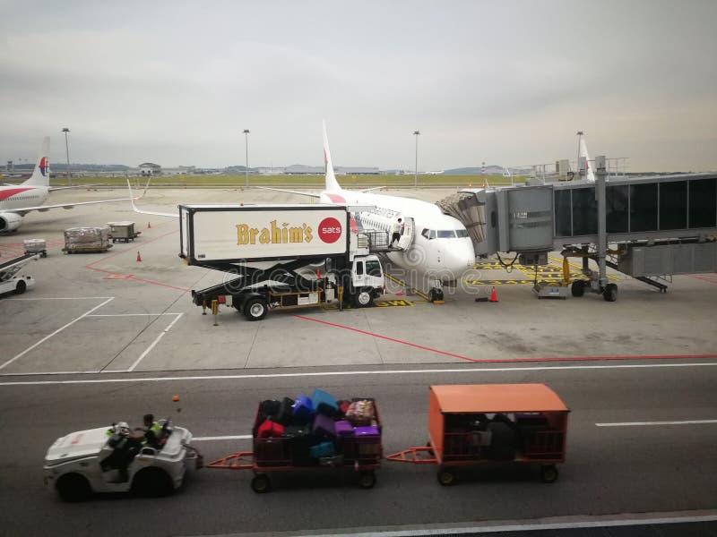 Services de traiteur de Brahims pour le vol malaisien photographie stock