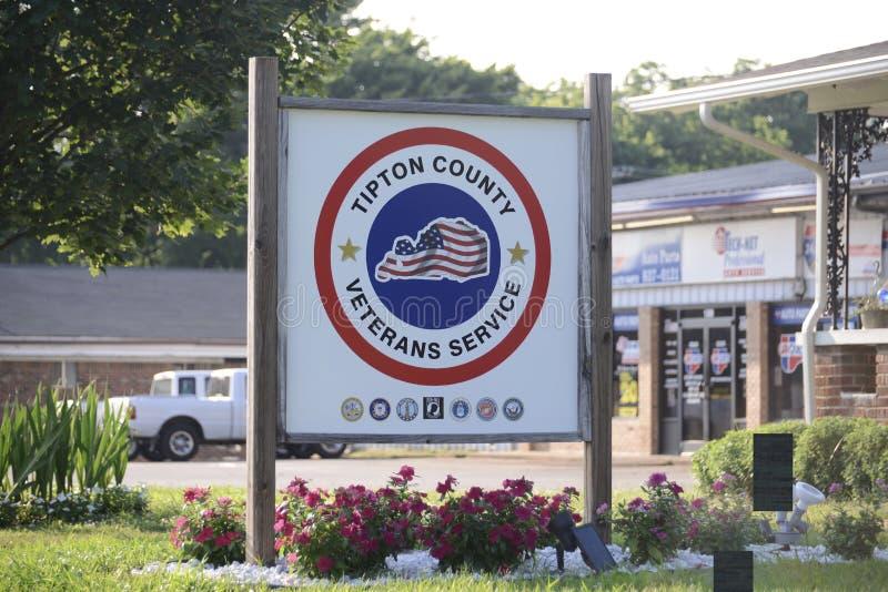 Services de vétéran du comté de Tipton photos libres de droits