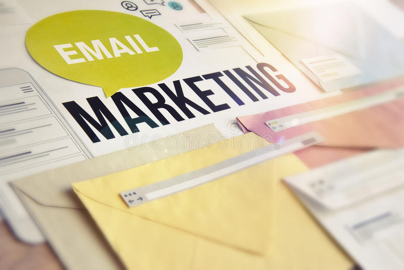 Services de vente d'email photo stock