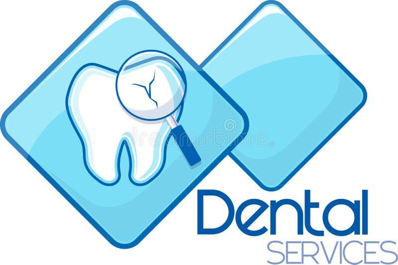 Services dentaires de diagnostic illustration de vecteur