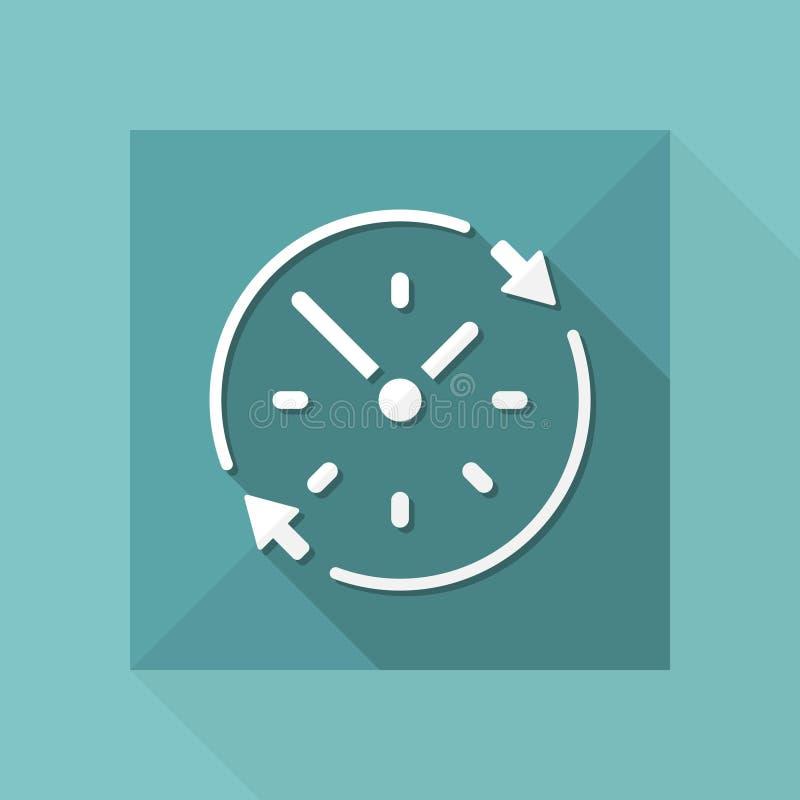 Services disponibles réguliers - icône de Web de vecteur illustration stock