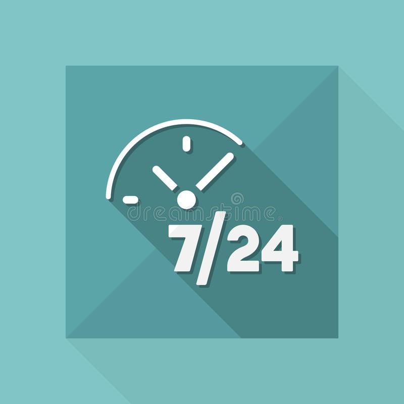 Services disponibles réguliers - icône de Web de vecteur illustration de vecteur