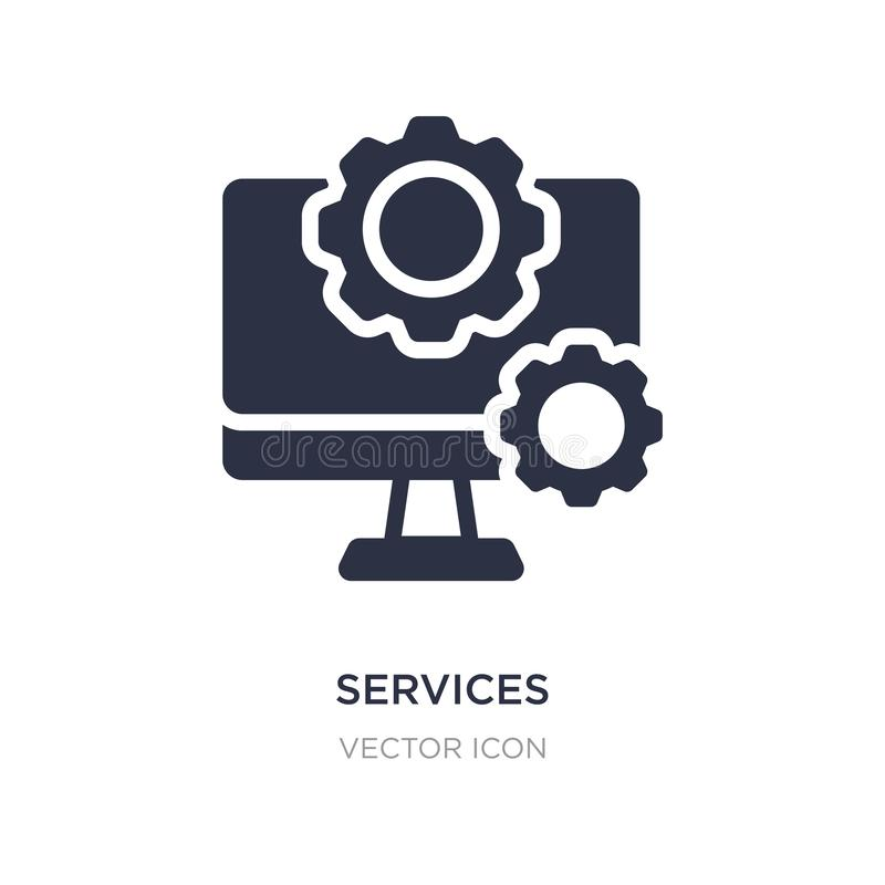 services icon on white background. Simple element illustration from Technology concept royalty free illustration