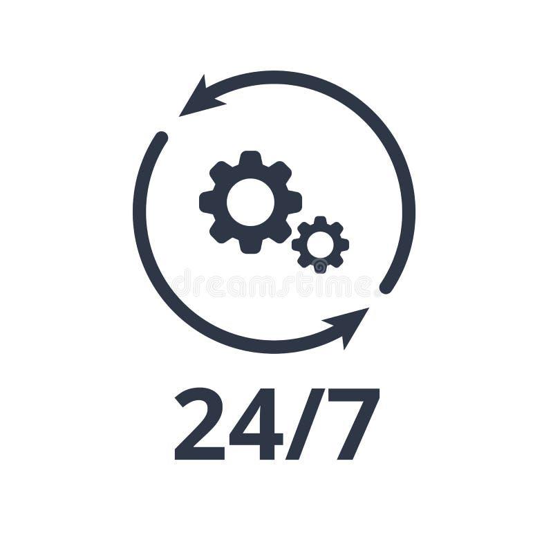 Services réguliers de support technique - icône de Web de vecteur illustration libre de droits