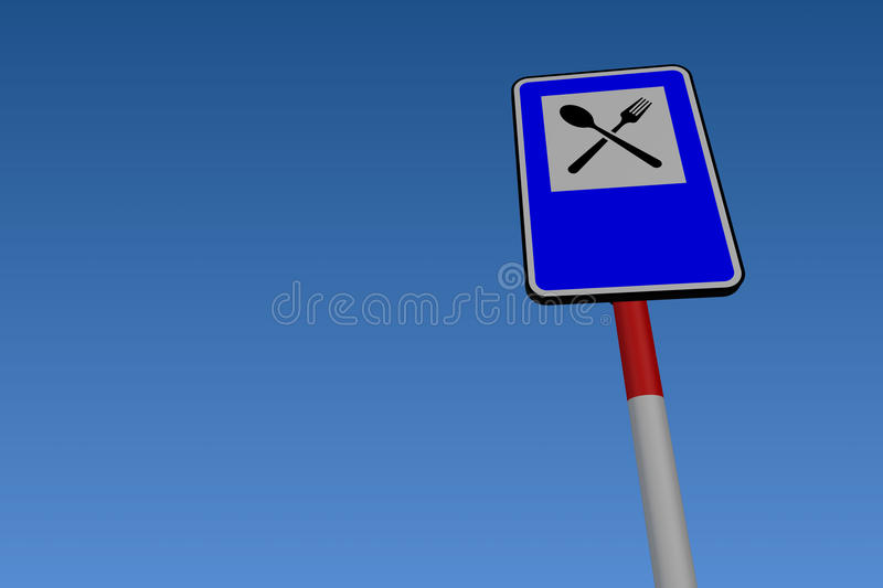 Download Services Road Traffic Sign Royalty Free Stock Photos - Image: 21201748