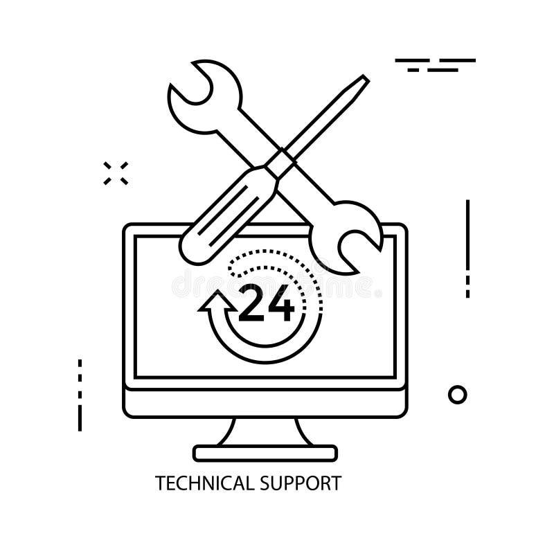Services. Business line illustration stock illustration