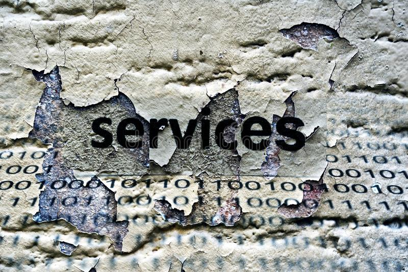 Services text stock photography