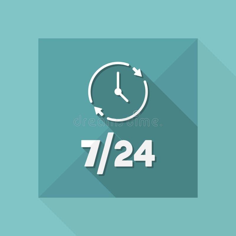 Services toujours disponibles - icône de Web de vecteur illustration libre de droits