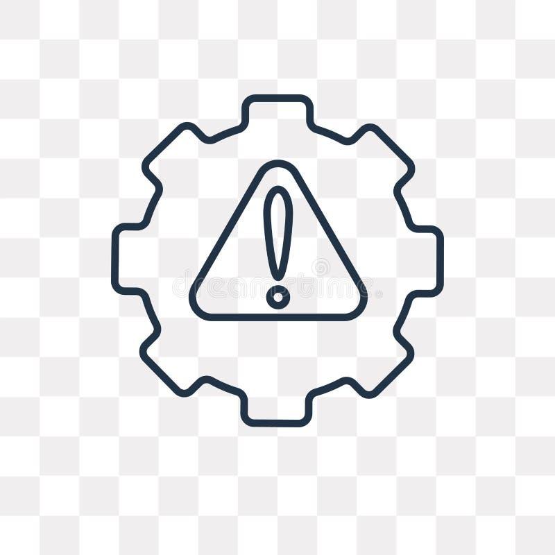 Servicevektorsymbol som isoleras på genomskinlig bakgrund, linjärt S stock illustrationer