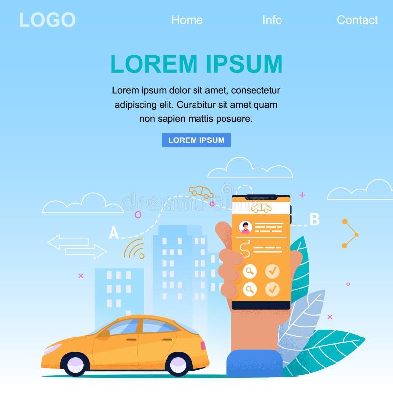 Servicio de aplicación en línea del taxi Bandera cuadrada libre illustration