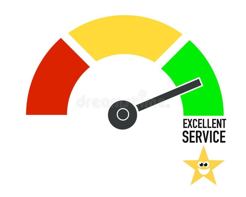 Servicio de atención al cliente excelente, cartel estupendo del negocio del extracto de la calidad ilustración del vector