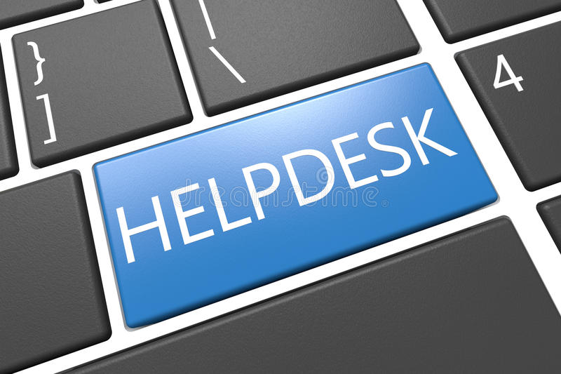 Servicio de ayuda stock de ilustración