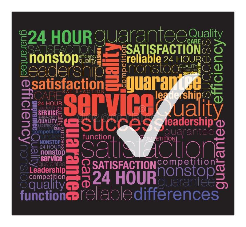 Servicio de calidad stock de ilustración