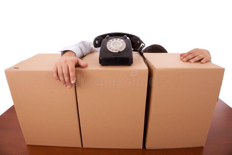Servicio de empaquetado del asunto fotos de archivo libres de regalías