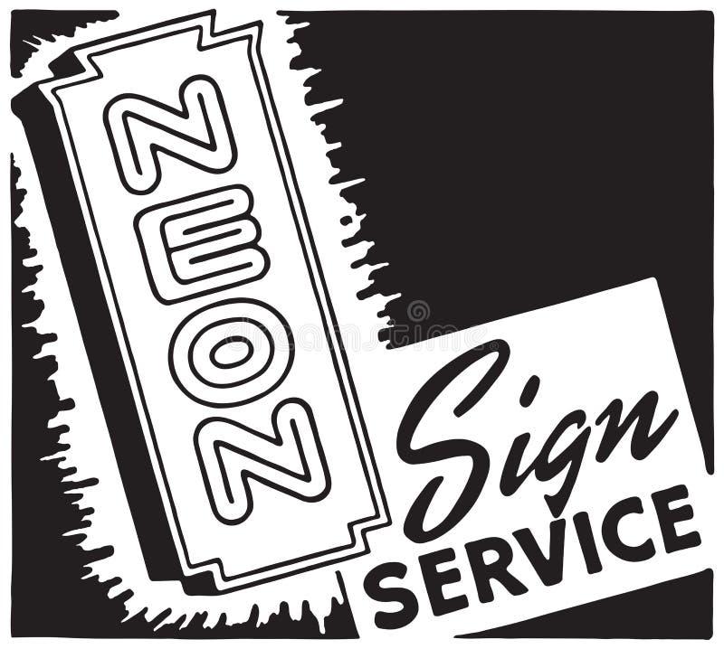 Servicio de la señal de neón libre illustration