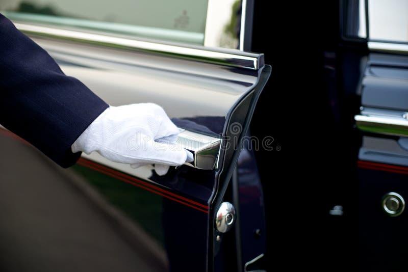 Servicio de lujo del chófer fotografía de archivo