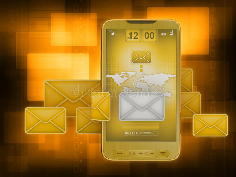 Servicio de mensaje corto (SMS) stock de ilustración
