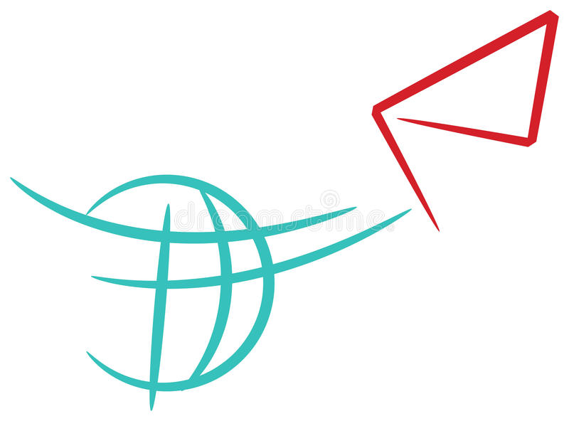 Servicio de mensajero ilustración del vector