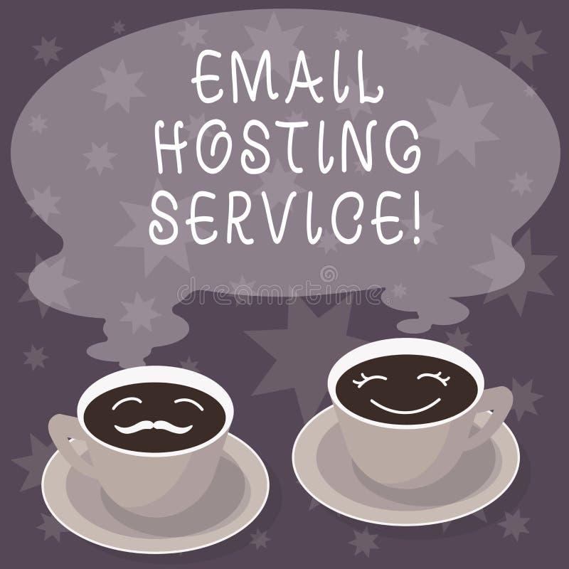 Servicio de recibimiento del correo electrónico de la demostración de la muestra del texto El servicio de recibimiento conceptual libre illustration