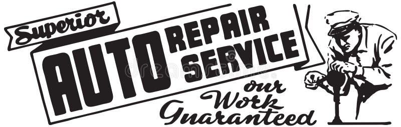 Servicio de reparación auto superior ilustración del vector