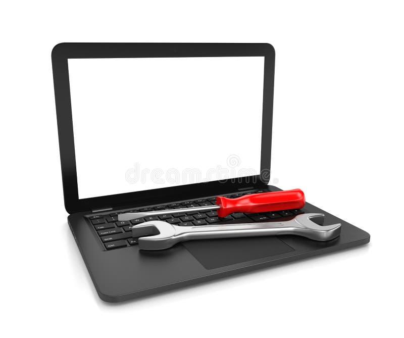 Servicio de reparación del ordenador stock de ilustración