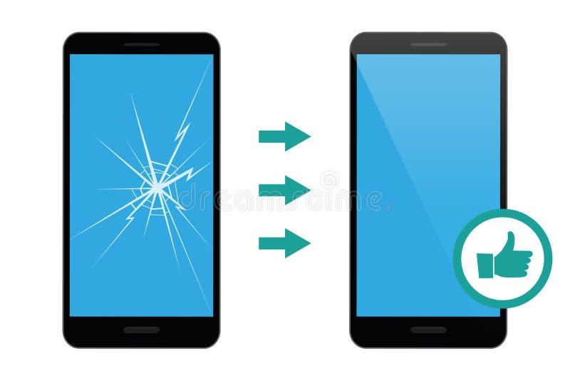 Servicio de reparación del teléfono móvil ilustración del vector