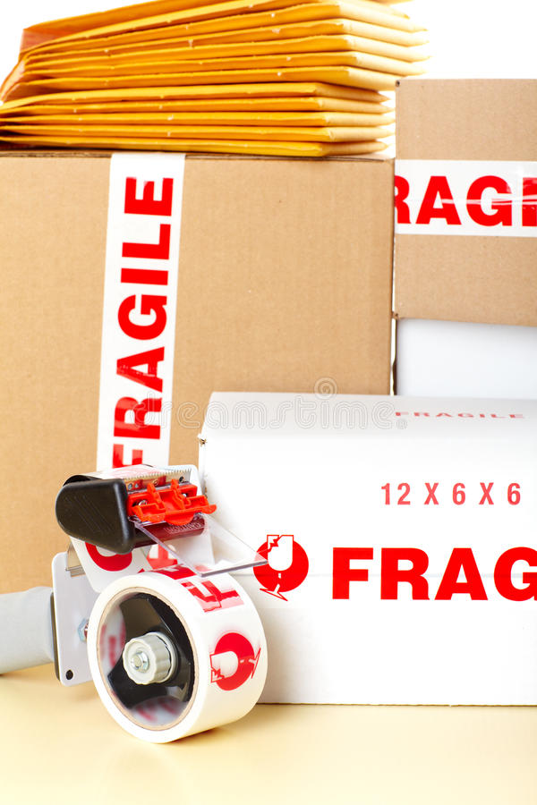Servicio de salida frágil imagen de archivo