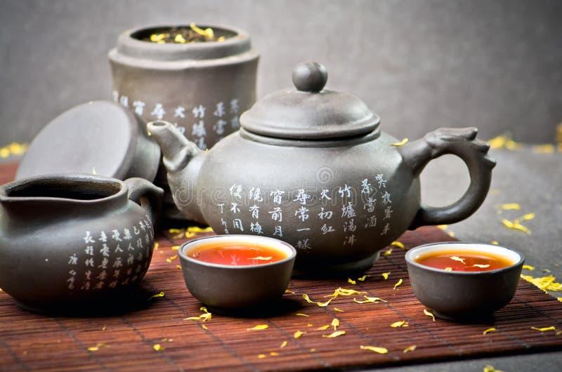 Servicio de té de China imagen de archivo libre de regalías