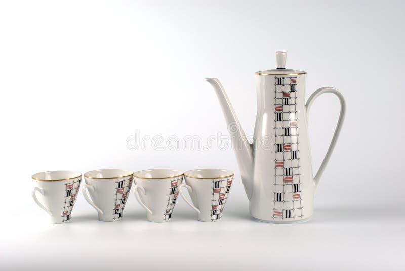 Servicio de té de la porcelana fotos de archivo libres de regalías
