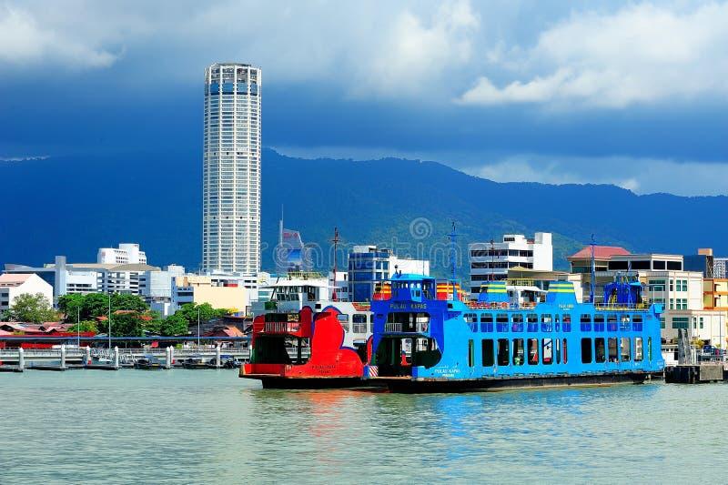 Servicio de transbordador de Penang, Georgetown, Malasia foto de archivo