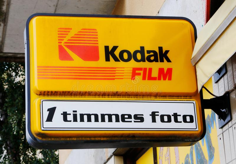 Servicio de una hora de la foto de Kodak fotografía de archivo