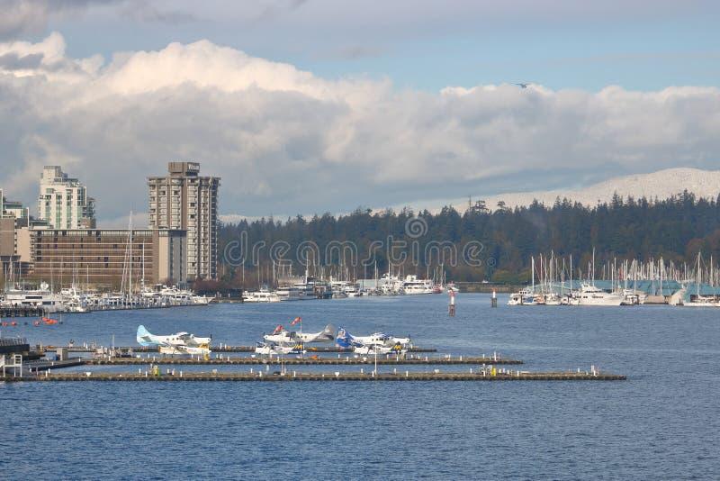Servicio del avión del flotador de Vancouver foto de archivo libre de regalías