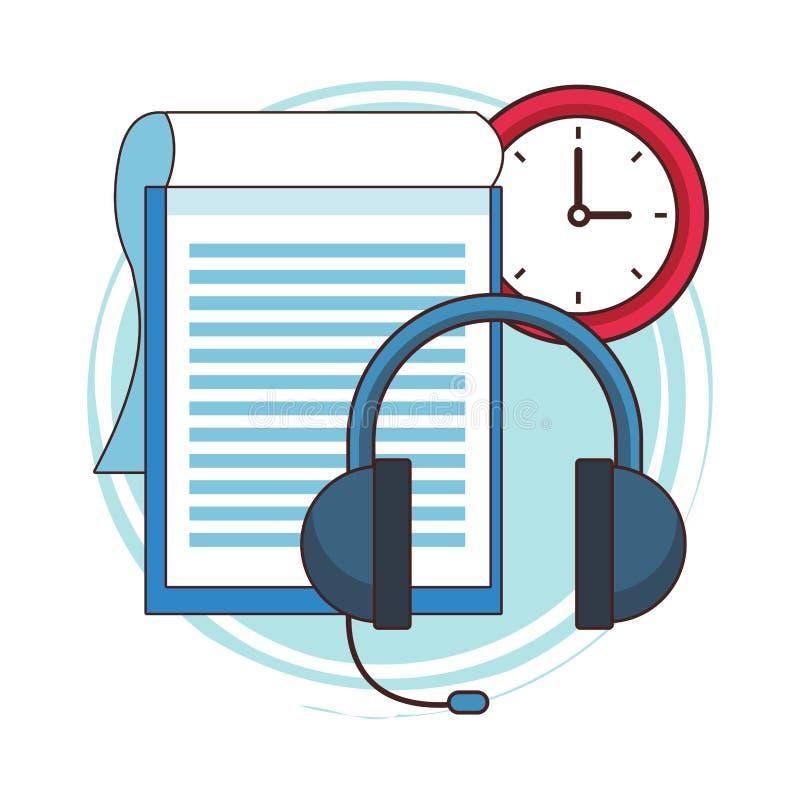 Servicio del centro de atención telefónica stock de ilustración